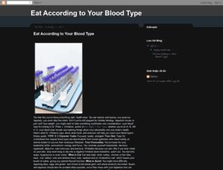 eataccordingtoyourbloodtype.blogspot.com screenshot