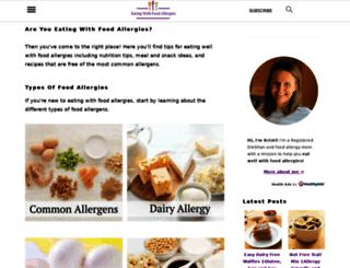 eatingwithfoodallergies.com screenshot