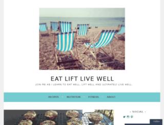 eatliftlivewell.com screenshot