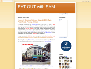 eatoutsam.blogspot.com screenshot