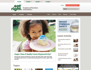 eatright.org screenshot