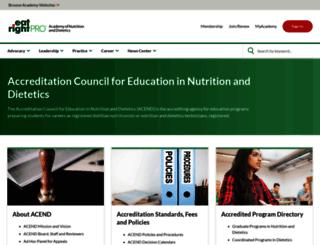 eatrightacend.org screenshot