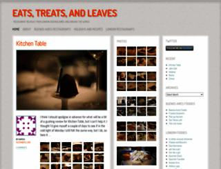 eatstreatsandleaves.wordpress.com screenshot