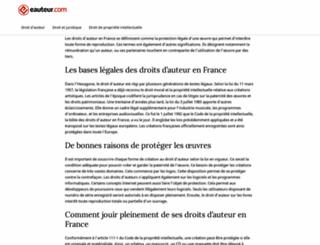 eauteur.com screenshot