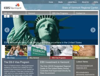 eb5vermont.com screenshot