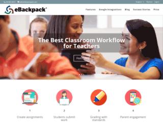 ebackpack.com screenshot