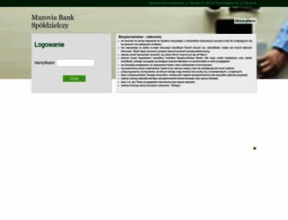 ebank.mazoviabank.pl screenshot