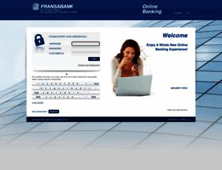 ebanking.fransabank.com screenshot