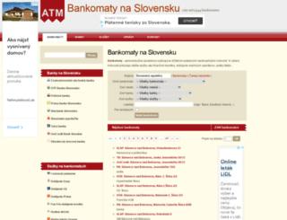 ebankomaty.sk screenshot