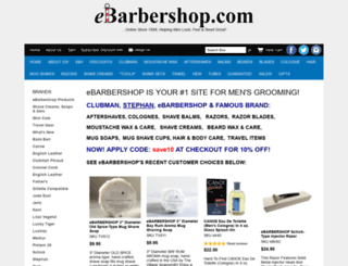 ebarbershop.com screenshot