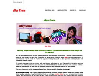 ebayclonescript.weebly.com screenshot