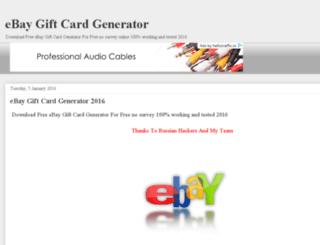 ebaygiftcardgenerator4u.blogspot.com screenshot