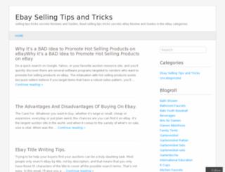 ebaysellingtipstricks.wordpress.com screenshot
