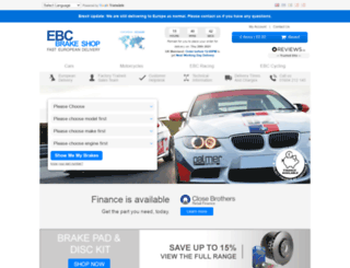 ebcbrakeshop.co.uk screenshot