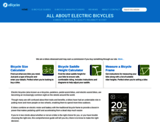 ebicycles.com screenshot