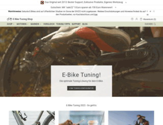 ebiketuningshop.com screenshot