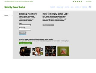 ebiz.simplycolorlab.com screenshot