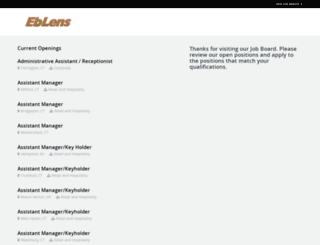 eblens.theresumator.com screenshot