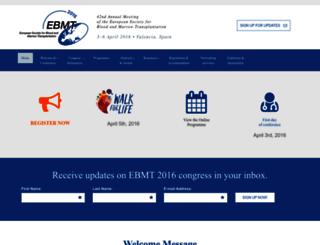 ebmt2016.org screenshot