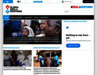 ebolaresponse.un.org screenshot