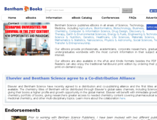 ebooks.benthamsciencepublisher.org screenshot
