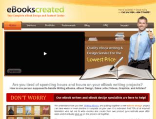 ebookscreated.com screenshot