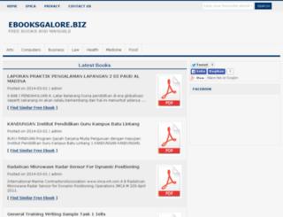 ebooksgalore.biz screenshot