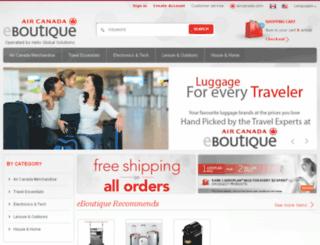 eboutique.aircanada.com screenshot