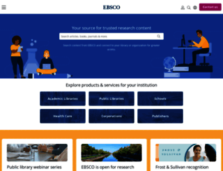 ebsco.com screenshot