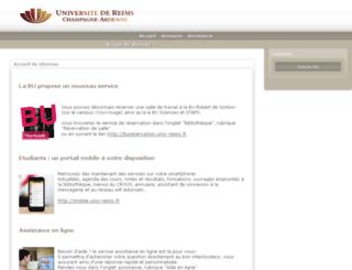 ebureau.univ-reims.fr screenshot