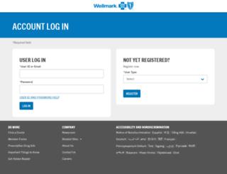 ebusiness.wellmark.com screenshot
