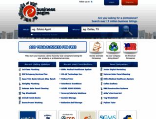 ebusinesspages.com screenshot
