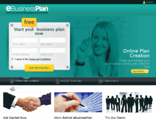 ebusinessplan.com screenshot