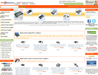 ebuybatteries.com screenshot