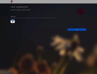 ebys.firat.edu.tr screenshot