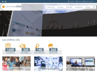 ec-lille.fr screenshot