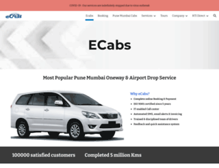 ecabs.in screenshot