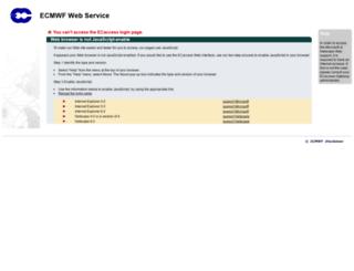 ecaccess.ecmwf.int screenshot