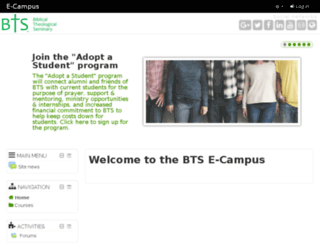 ecampus.biblical.edu screenshot