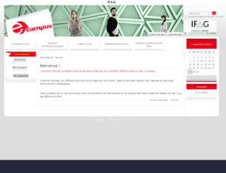 ecampus.ecoles-ifag.net screenshot