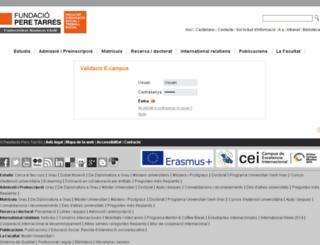 ecampus.peretarres.org screenshot