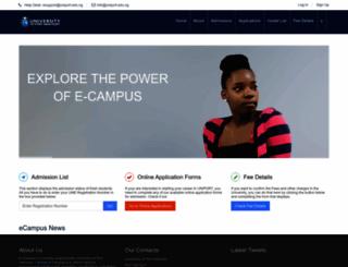 ecampus.uniport.edu.ng screenshot