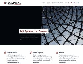 ecapital.ch screenshot