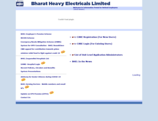 ecare.bhel.in screenshot