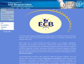 ecb.jrc.it screenshot
