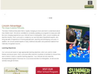 ecclincolnacademy.org screenshot