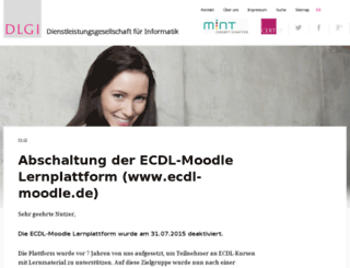 ecdl-moodle.de screenshot