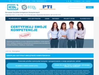 ecdl.com.pl screenshot