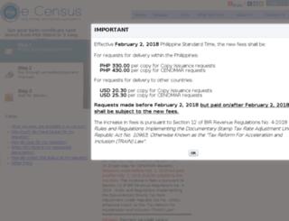 ecensus.com.ph screenshot
