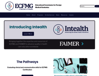 ecfmg.org screenshot